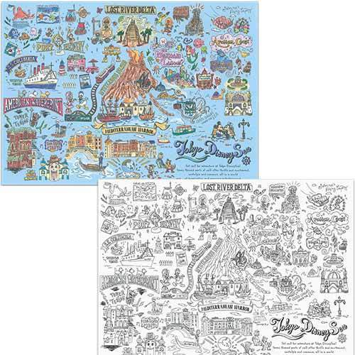 TDR - Tokyo Disney Resort Fun Map Collection - Coloring pages of Disney
