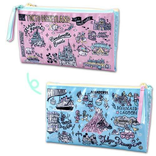 TDR - Toyko Disney Resort Fun Map Collection - Pencil/Make Up Bag