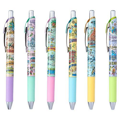 TDR - Tokyo Disney Resort Fun Map Collection - Black Color Pens Set