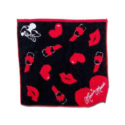 TDR Minnie Red Ruby Collection - Mini Towel (Red & Black)