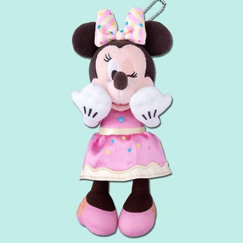 TDR - Pink Pop Paradise Collection - Plush Keychain x Minnie Mouse