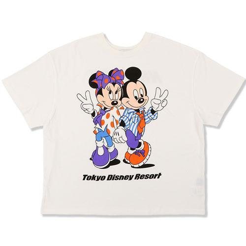 TDR x NiCORON - Graphic Mickey & Minnie Oversized T-shirt (White)