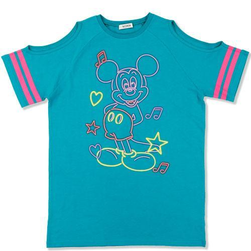 TDR x NiCORON - Graphic Mickey Cold Shoulder T-shirt (Teal)