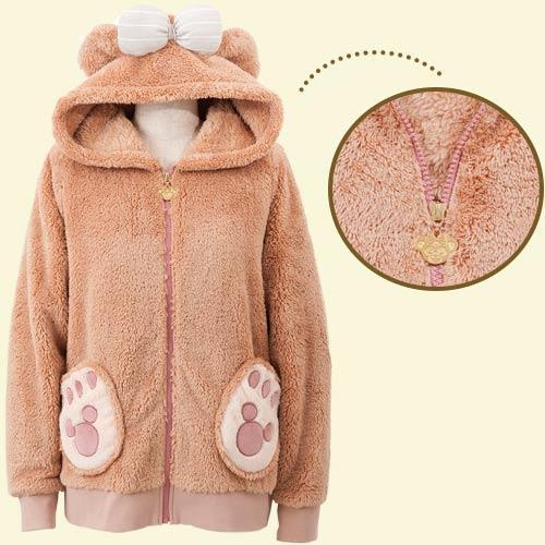 HKDL - Duffy & Friends - Fluffy Zip Hoodie x ShellieMay (for Female)
