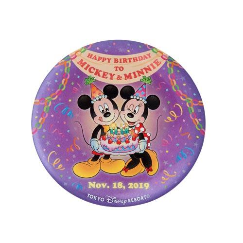"TDR - ""Happy Birthday to Mickey & Minnie"" Collection - Button Badge"