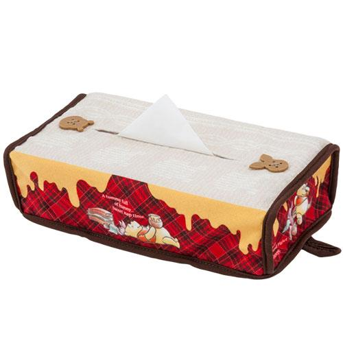 TDR - Pooh & Piglet Honey Plaid - Tissue Box Cover