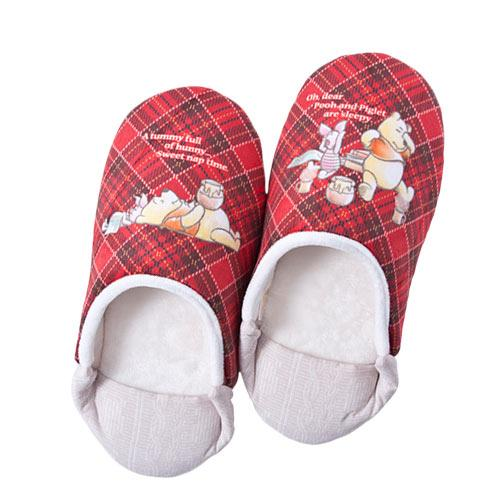 TDR - Pooh & Piglet Honey Plaid - In-Room Shoes/Slippers