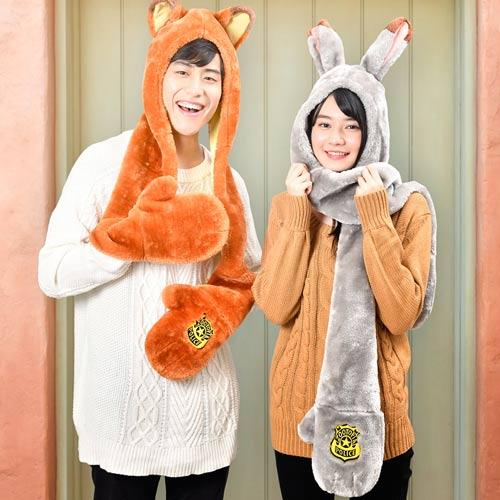 TDR - 3 in 1 Beanie with Long Paw Scarf x Nick Wilde