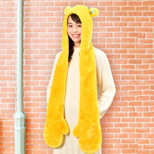 TDR - 3 in 1 Beanie with Long Paw Scarf x Winnie the Pooh