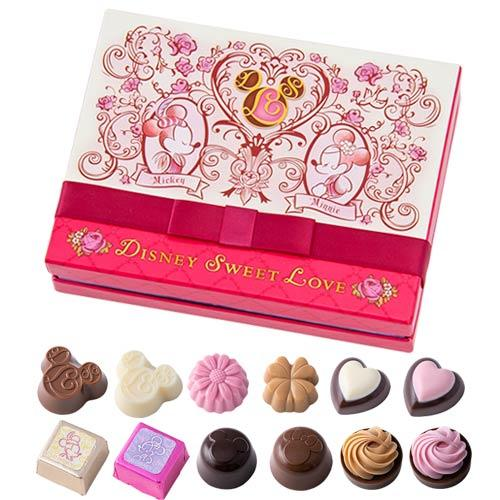 TDR - Disney Sweet Love - Assorted Chocolate Box (White & Hot Pink)