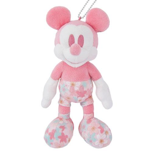 TDR - Sakura Cherry Blossom Sway - Plush Keychain & Badge x Mickey Mouse