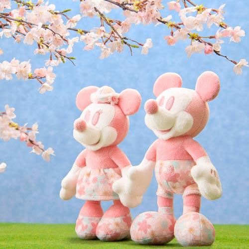 TDR - Sakura Cherry Blossom Sway - Plush Keychain & Badge x Minnie Mouse
