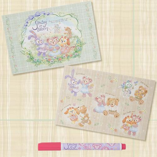 TDR - Duffy & Friends Spring in Bloom - Post Cards & Color Pens Set