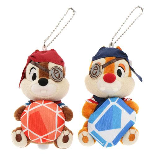 "TDR - ""Disney Pirates Summer 2020"" Collection - Plush Toy & Badge - Chip & Dale"