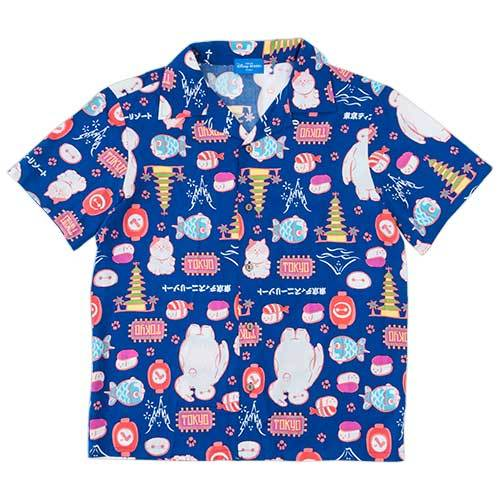TDR - Japanese Good x Baymax & Mochi Collection - All Over Printed Aloha Shirt