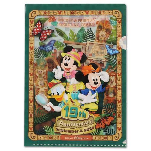 "TDR - ""Tokyo Disney Sea 19th Anniversary Collection"" - A4 Size Clear Folder"