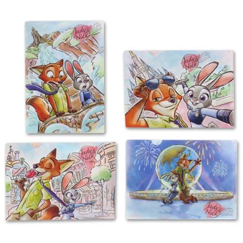 TDR - Judy Hopps & Nick Wilde at Tokyo Disney Resort Collection - A4 Size Clear Folders Set