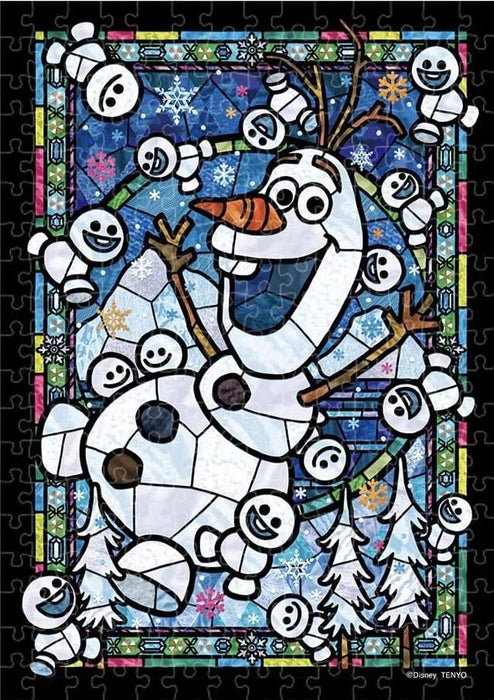 Japan Tenyo - Disney Puzzle - 266 Pieces Tight Series Stained Art - Stained Glass x Olaf