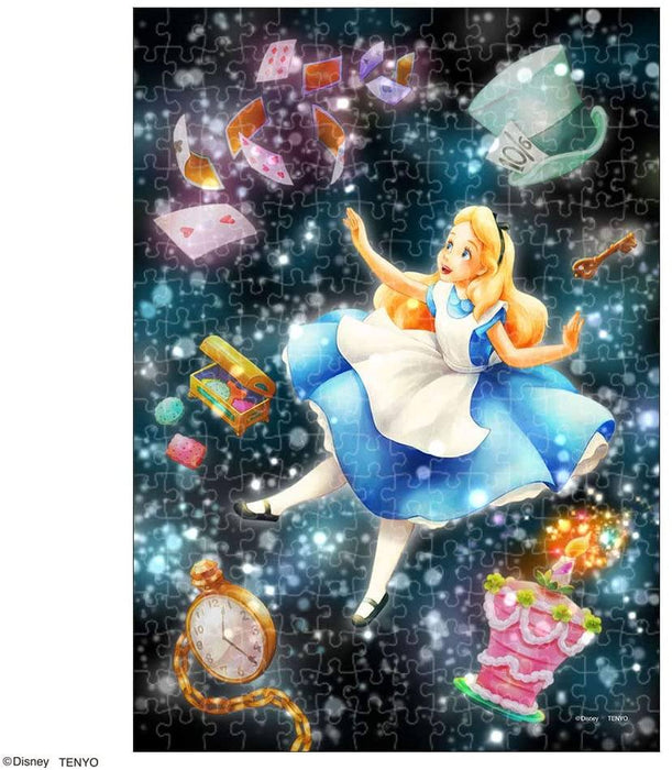 Japan Tenyo - Disney Puzzle - 266 Pieces Tight Series Stained Art - Twinkle Shower x A Mysterious Dream (Alice)