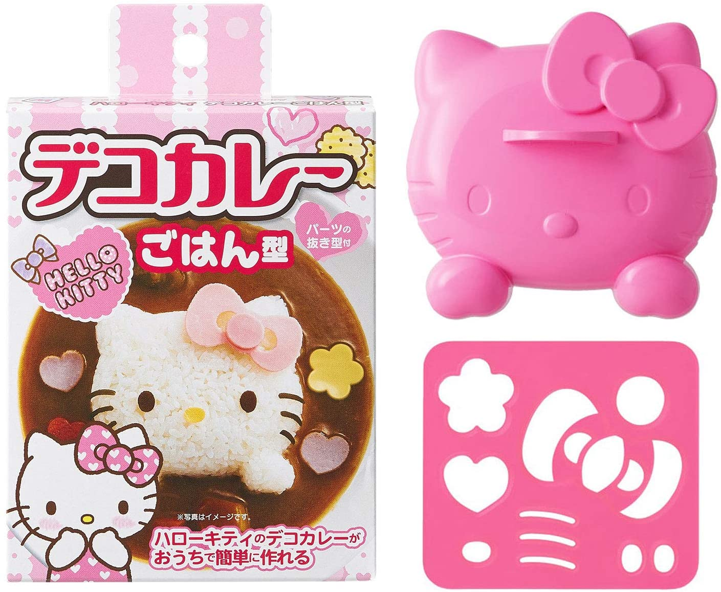 Japan Osk - Character Curry and Pilaf Decoration Mold - Hello Kitty