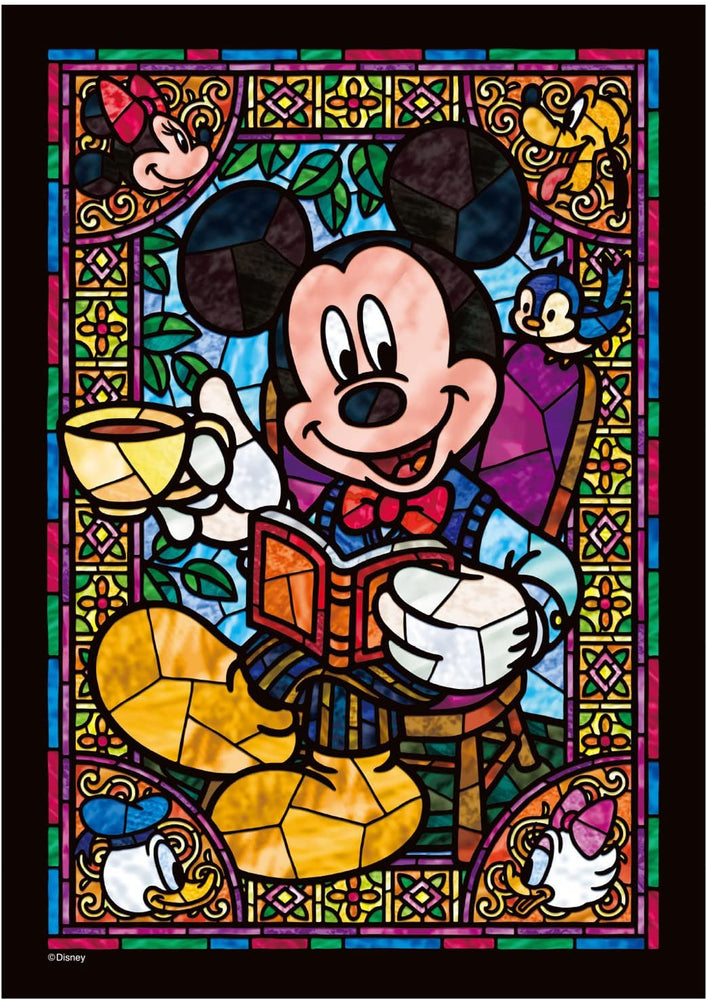 Japan Tenyo - Disney Puzzle - 266 Pieces Tight Series Stained Art - Stained Glass x Mickey & Friends