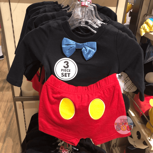 DLR - Mickey 90th Year Let's Celebrate! - Mickey Baby 3-pc Outfit