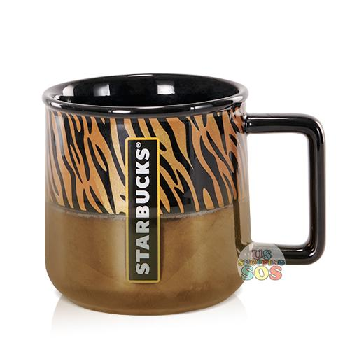 Starbucks China - Wild Black & White - Black Gold Panther Mug 350ml