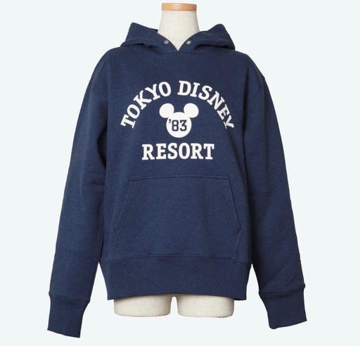 "TDR - Unisex Hoodies with ""Tokyo Disney Resort"" Wordings x Navy"