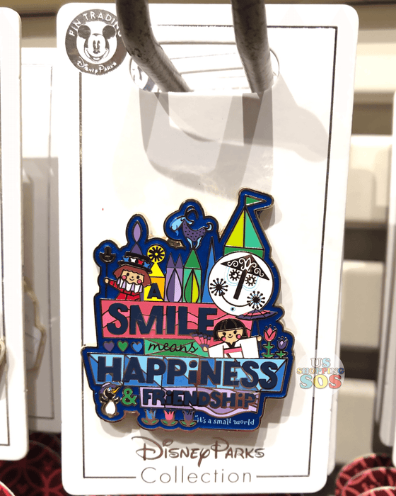 DLR - Attraction Pin - It's a Small World x Smile Means Happiness and Friendship