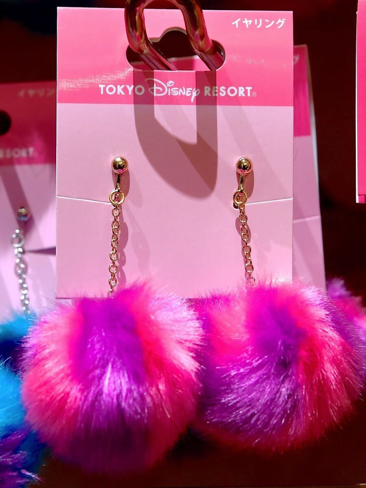 TDR - Fluffy Earrings Set - Cheshire Cat