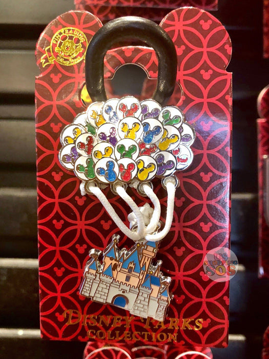DLR - Attraction Pin - Castle with Mickey Balloons