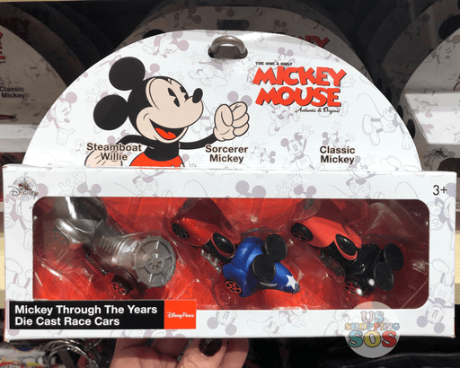 DLR - Mickey Mouse Through the Years - Die Cast Race Cars Set