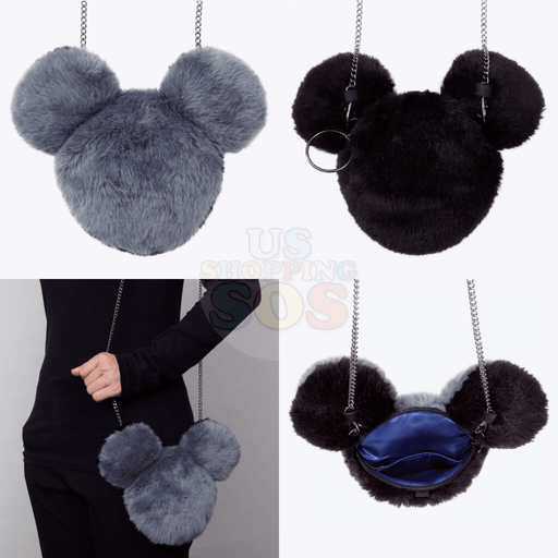 TDR - Fluffy 2 Colors Crossbody Bag - Grey & Black