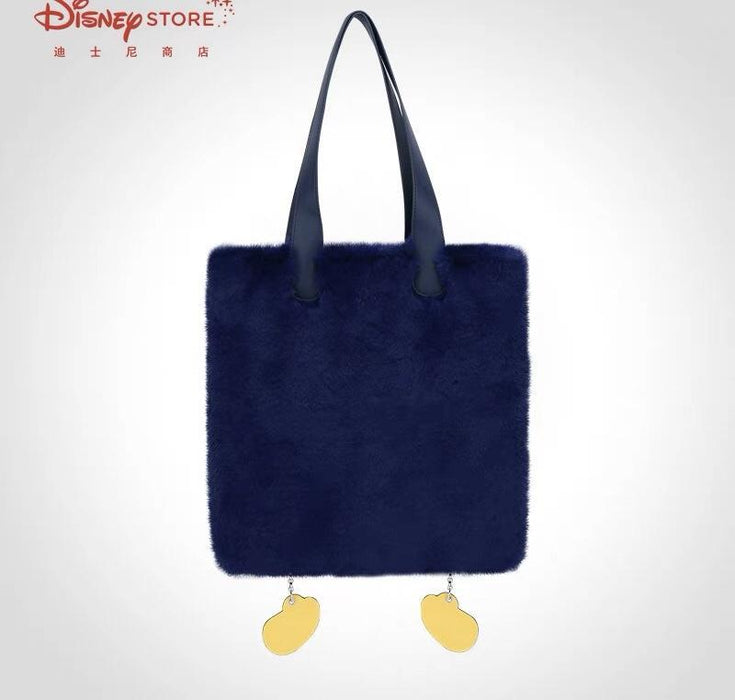 SHDS - Fluffy Mickey Mouse Hands & Foot Totebag (Color: Navy)