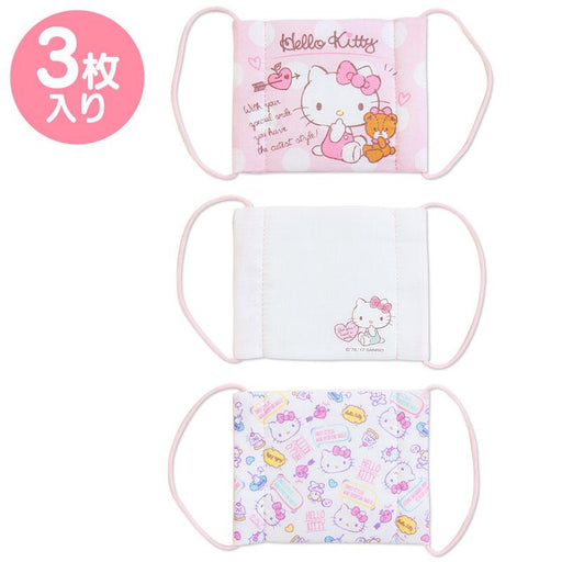 Japan Sanrio -  100% Cotton Face Mask Set of 3 For Kids x Hello Kitty