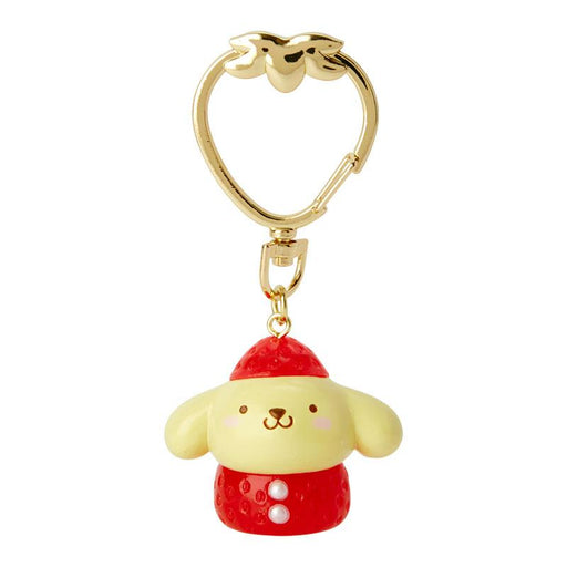 JP Sanrio - Strawberries Collection - Keychain x Pompompurin