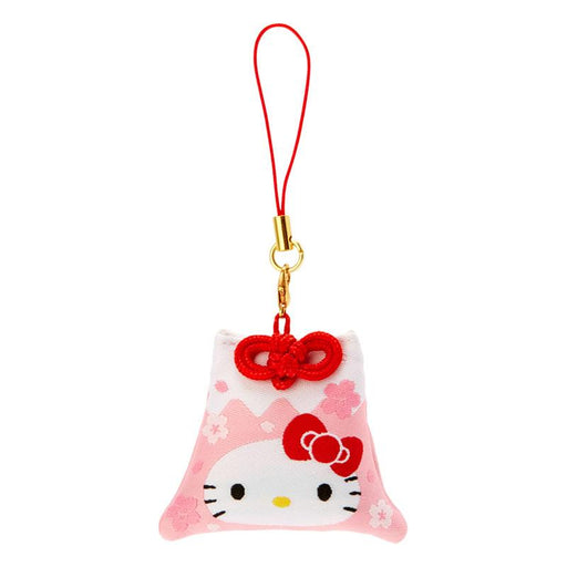 Japan Sanrio - Sakura 2021 Collection - Fuji Mountain Shaped Omamori Phone Strap x Hello Kitty