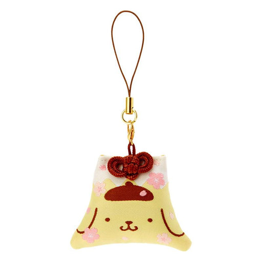 Japan Sanrio - Sakura 2021 Collection - Fuji Mountain Shaped Omamori Phone Strap x Pompompurin