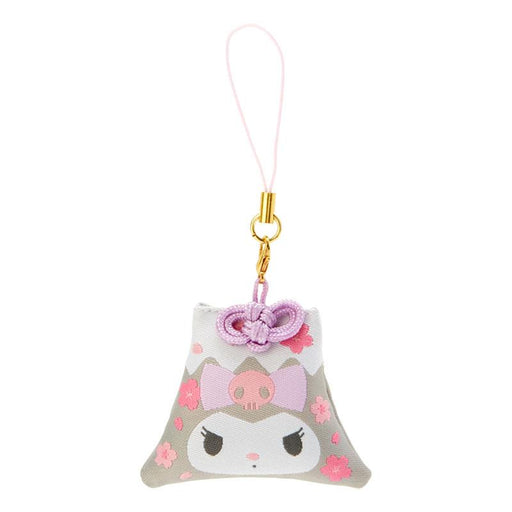 Japan Sanrio - Sakura 2021 Collection - Fuji Mountain Shaped Omamori Phone Strap x Kuromi