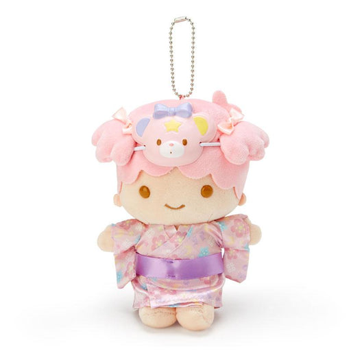 "Japan Sanrio - ""Summer Festival 2020 Collection"" - Plush Keychain x Little Twin Star (Pink)"