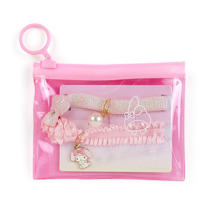 Japan Sanrio - Clear Pouch x Hair Ties Set - My Melody