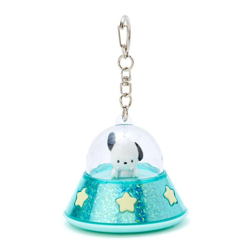 Japan Sanrio - UFO Spaceship Lighting Up Keychain x Pochacco