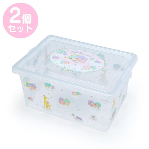 Japan Sanrio - Storage Case with Lid, set of 2 x Little Twin Star