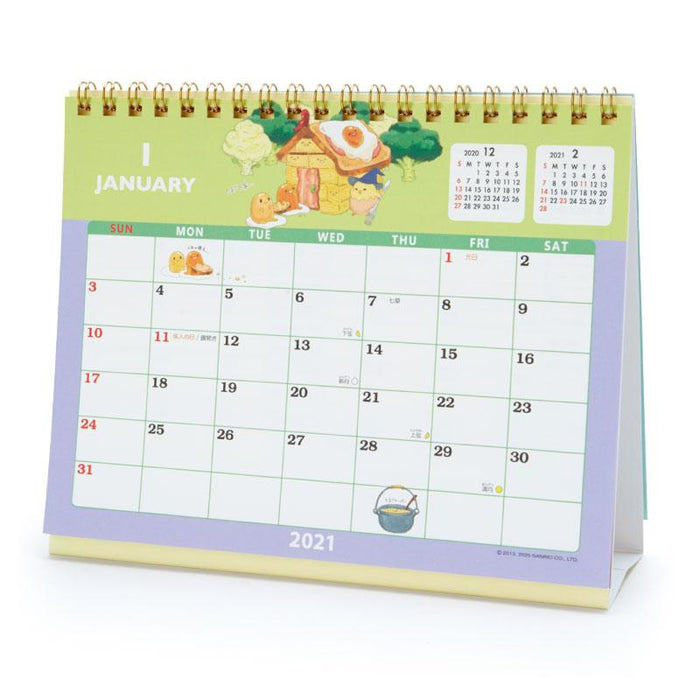 Stand Up Desk Calendar 2021 Japan Sanrio   2021 Calendar & Diary Collection   Stand Up Table