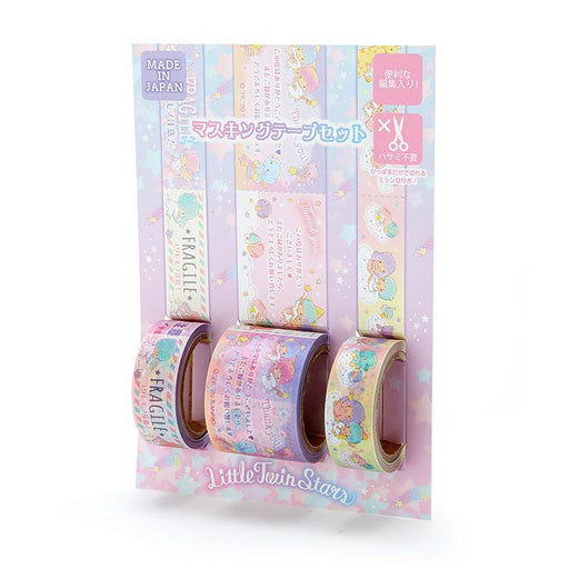Japan Sanrio - Masking tape with Little Twin Star message