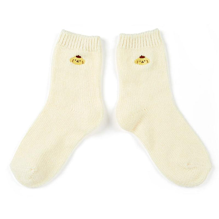 Japan Sanrio - Fluffy Mall Socks x Pompompurin