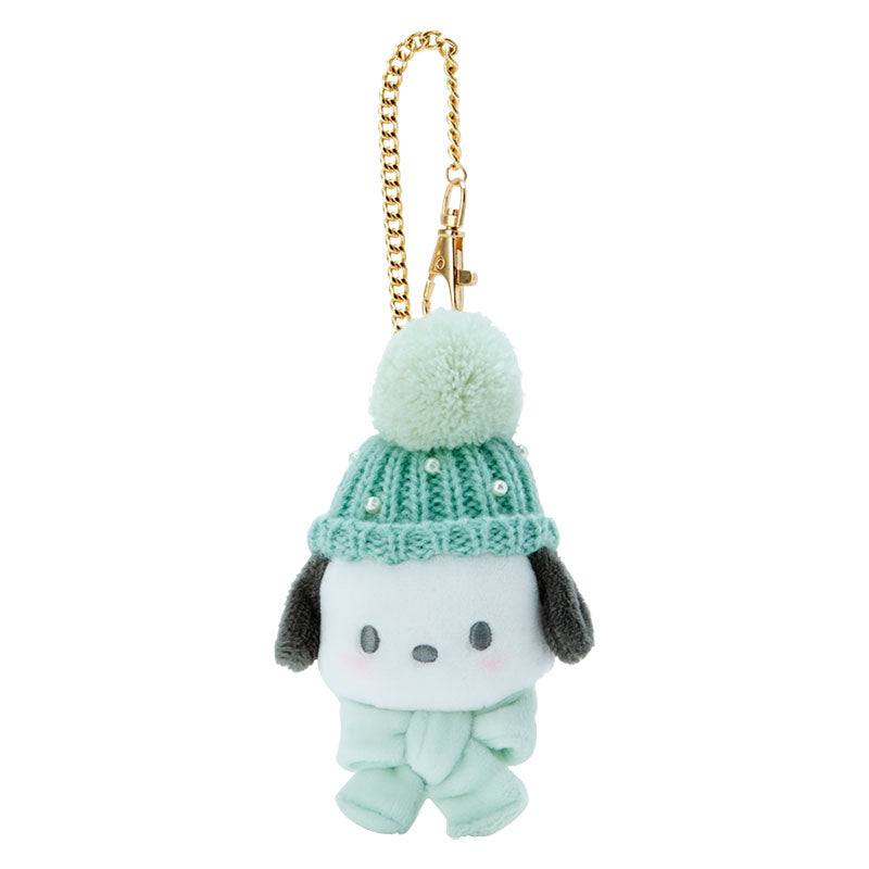 Japan Sanrio - Plush Toy Keychain x Pochacco Knit Hat
