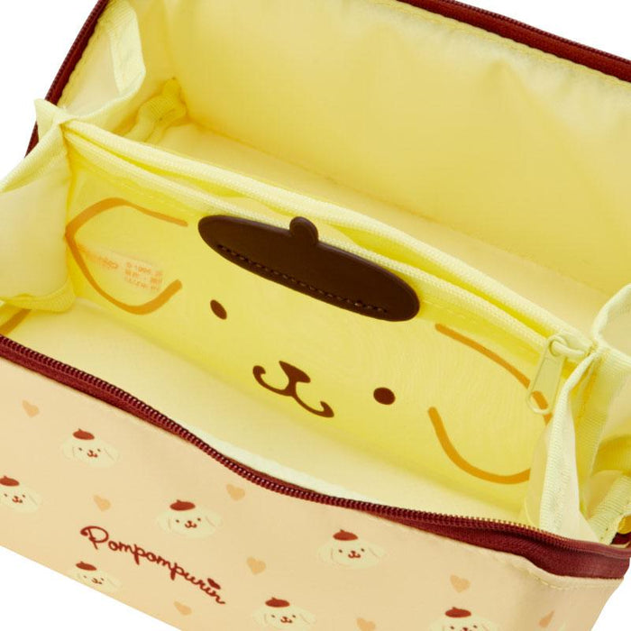Japan Sanrio - Pacapo. (R) Cosmetic Pouch Size M x Pompompurin