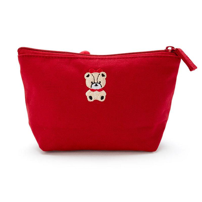 Japan Sanrio - Pouch with Fluffy Face x Hello Kitty