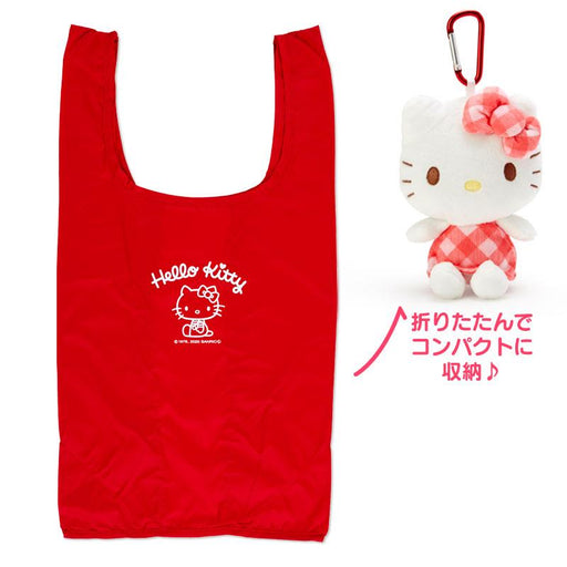 Japan Sanrio - Hello Kitty Eco bag with Plush Toy Case